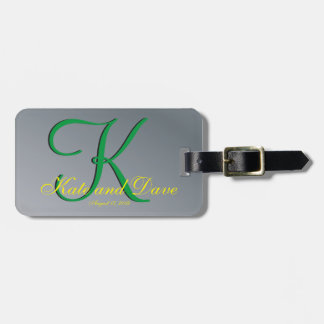 3d Monogram Pewter Bag Tag