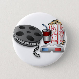 3D Movie 2 Inch Round Button