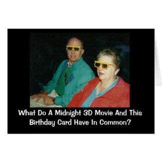 3D Movie Belated Birthday Humor Card