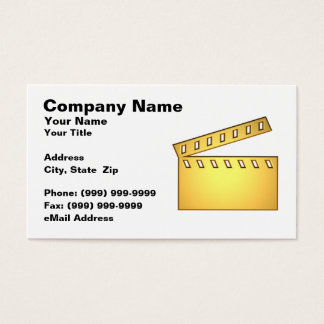 3D Movie Clap Board Business Card