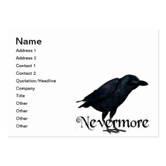 3D Nevermore Raven Business Card Templates