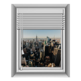 3D New York City Fake Window View Poster