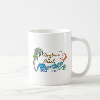 3d Palms, Waves & Sunset DAYTONA BEACH Coffee Mug