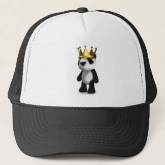 3d Panda King Trucker Hat