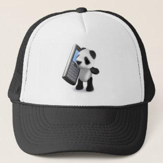 3d Panda Mobile Phone Trucker Hat