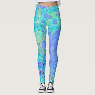 3D Pastel Flower Psychedelic Leggings