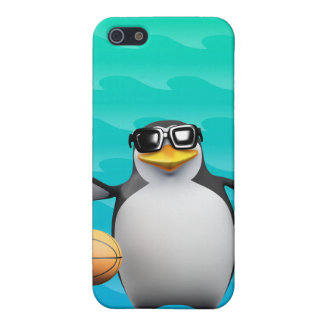 3d Penguin Basketball Player iPhone 5/5S Covers