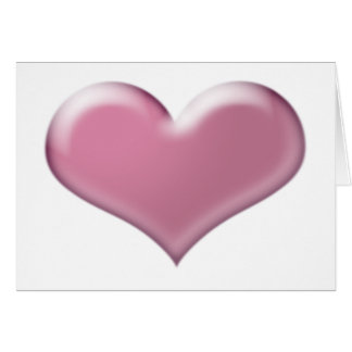 3D pink heart Greeting Card