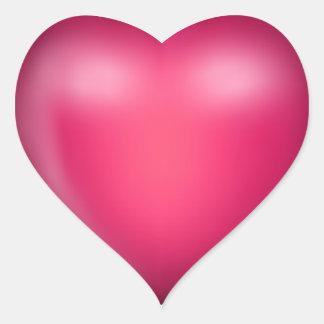 3D Pink Love Heart Heart Sticker