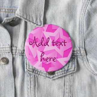 3D pink stars 4 Inch Round Button