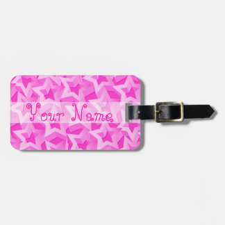 3D pink stars Luggage Tag