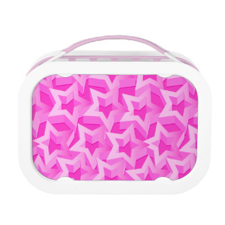 3D pink stars Lunch Box