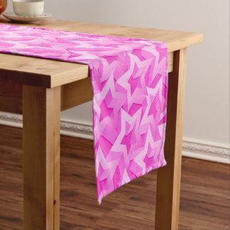 3D pink stars Short Table Runner