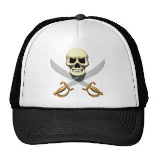 3D Pirate Skull and Crossed Swords Trucker Hat