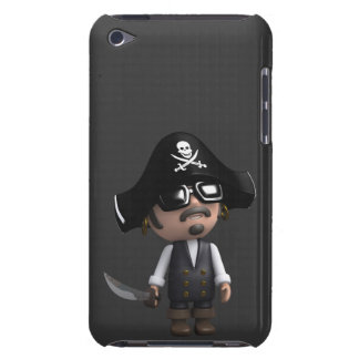 3d Pirate sunglasses iPod Touch Case