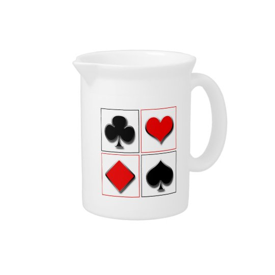 3D playing card suits Beverage Pitchers