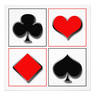 3D playing card suits Photograph