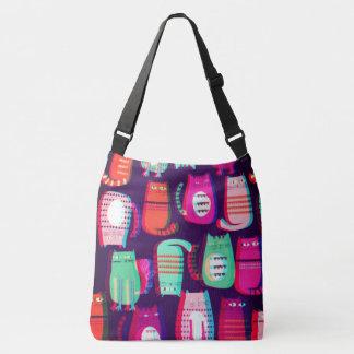 3D Pop Crazy Cat Tote Bag