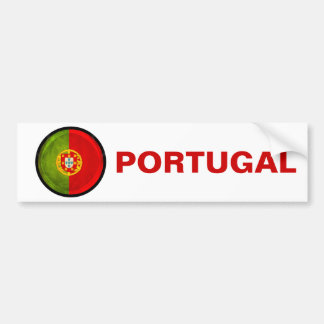 3D Portugal flag Bumper Sticker