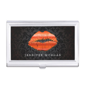 3D Red Lips Makeup Artist Beauty Salon Business Card Holder