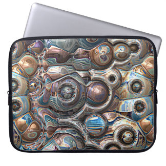 3D Reflections of Copper Laptop Sleeve