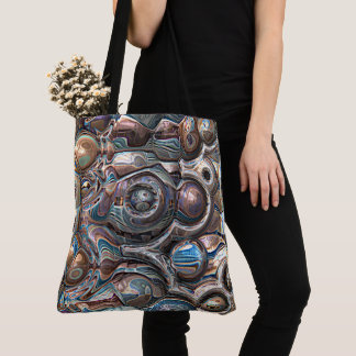 3D Reflections of Copper Tote Bag