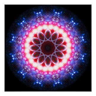 3D Ruby Gems Mandala Poster