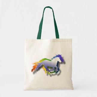 3D Running Horses Tote Bag