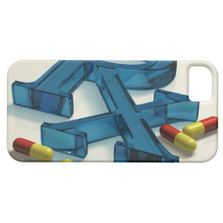 3D RX symbol with capsules iPhone 5 Cover