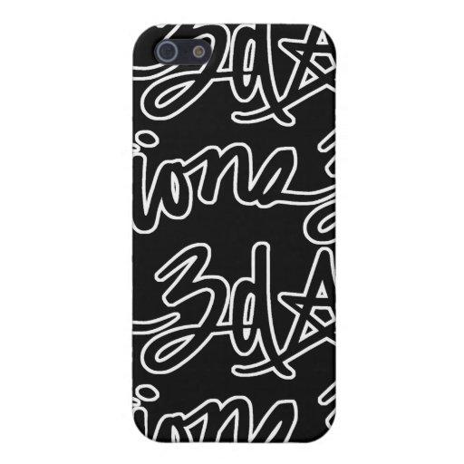 3d Script Tile Black Cases For iPhone 5