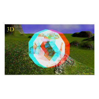 3D SEE THRU CRYSTAL BALL Pop Out Poster