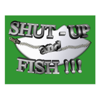 3D Shut-Up and Fish Postcard