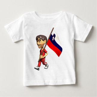 3D Slovenia Flag Baby T-Shirt