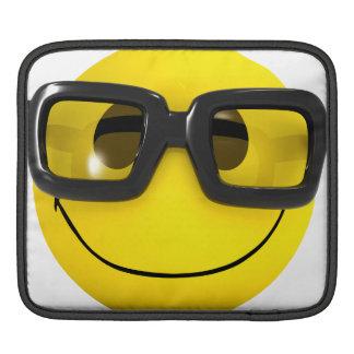 3d Smiley Nerd Geek iPad Sleeves
