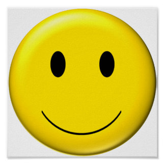 3D Smiley Poster