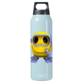 3d Smiley Scuba diver Insulated Water Bottle