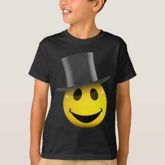 3d-smiley-tophat T-Shirt
