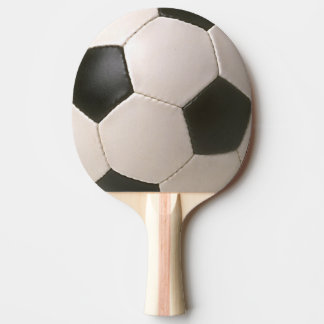 3D Soccerball Black White Football Ping-Pong Paddle