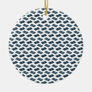 3d solar panel pattern. ceramic ornament