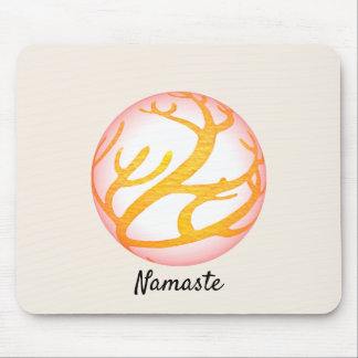 3D Sphere Eastern Design Namaste Mouse Pad