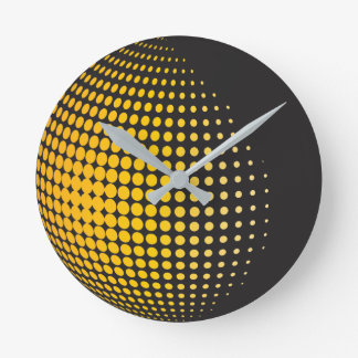 3D Spheres with Dots Round Clock