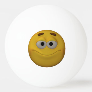 3D Stlyle Smiling Emoticon Ping Pong Ball