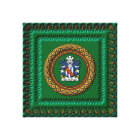 3D Stradling Crest on canvas by Krystyna