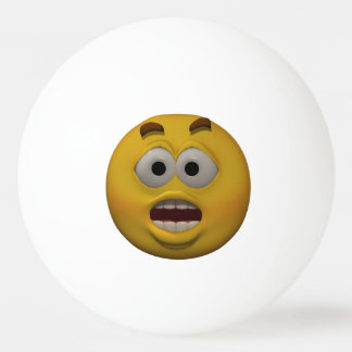 3D Style Affraid Emoticon Ping Pong Ball