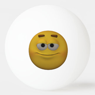 3D Style Arrogant Emoticon Ping Pong Ball