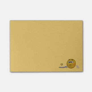 3d Style Emoticon Practicing Tennis Post-it Notes