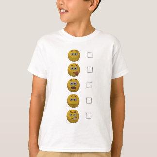3d Style Emoticon Survey T-Shirt