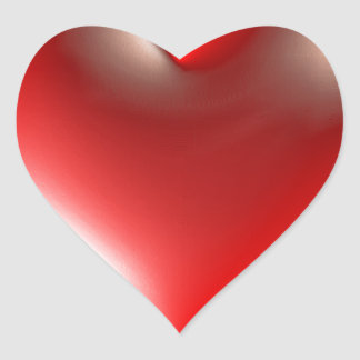 3D Style Heart Symbol Red Heart Sticker