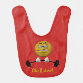 3d Style lifting weights Bib