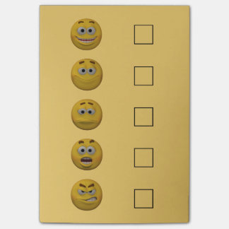 3d Style Mood Check Emoticon 2 Post-it Notes